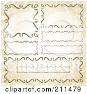 Royalty Free RF Clipart Illustration Of A Digital Collage Of Ornate Frame Borders 3 by BestVector