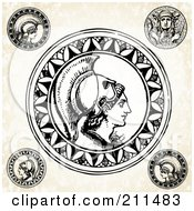 Digital Collage Of Roman Soldier Seals