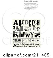 Royalty Free RF Clipart Illustration Of A Digital Collage Of Distressed Letters