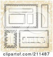Royalty Free RF Clipart Illustration Of A Digital Collage Of Ornate Frame Borders 1 by BestVector