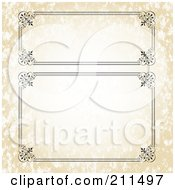 Royalty Free RF Clipart Illustration Of A Digital Collage Of Ornate Frame Borders 5 by BestVector
