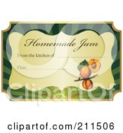 Royalty Free RF Clipart Illustration Of A Golden And Green Homemade Jam Label With Text And Date Space 6