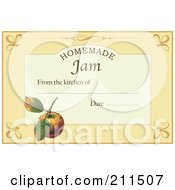 Royalty Free RF Clipart Illustration Of A Homemade Jam Label With Date And Text Space 3