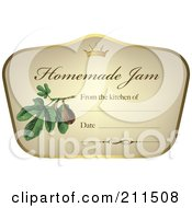 Crown And Fruit On A Homemade Jam Label With Text Space 6