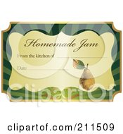 Royalty Free RF Clipart Illustration Of A Golden And Green Homemade Jam Label With Text And Date Space 3