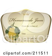 Royalty Free RF Clipart Illustration Of A Crown And Fruit On A Homemade Jam Label With Text Space 1