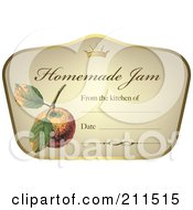 Crown And Fruit On A Homemade Jam Label With Text Space 3
