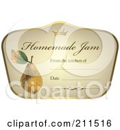 Crown And Fruit On A Homemade Jam Label With Text Space 2