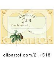 Homemade Jam Label With Date And Text Space 6