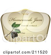 Crown And Fruit On A Homemade Jam Label With Text Space 4