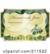 Golden And Green Homemade Jam Label With Text And Date Space 7