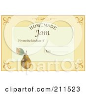Royalty Free RF Clipart Illustration Of A Homemade Jam Label With Date And Text Space 2