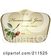 Crown And Fruit On A Homemade Jam Label With Text Space 7