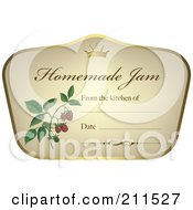 Royalty Free RF Clipart Illustration Of A Crown And Fruit On A Homemade Jam Label With Text Space 8