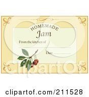 Royalty Free RF Clipart Illustration Of A Homemade Jam Label With Date And Text Space 7