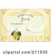 Homemade Jam Label With Date And Text Space 1