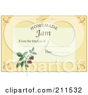Royalty Free RF Clipart Illustration Of A Homemade Jam Label With Date And Text Space 8