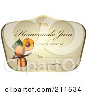 Crown And Fruit On A Homemade Jam Label With Text Space 5