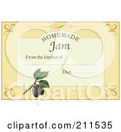 Royalty Free RF Clipart Illustration Of A Homemade Jam Label With Date And Text Space 4