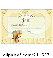 Royalty Free RF Clipart Illustration Of A Homemade Jam Label With Date And Text Space 5