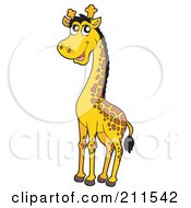 Royalty Free RF Clipart Illustration Of A Cute Tall Giraffe by visekart