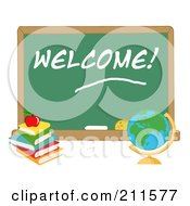 Desk Globe By A Welcome Chalk Board