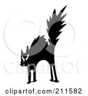 Royalty Free RF Clipart Illustration Of A Scared Black And White Cat