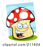 Royalty Free RF Clipart Illustration Of A Happy Mushroom Smiling