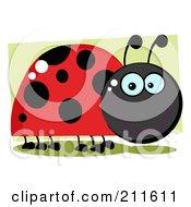 Royalty Free RF Clipart Illustration Of A Smiling Happy Ladybug