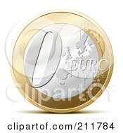 Royalty Free RF Clipart Illustration Of A 3d Zero Euro Coin