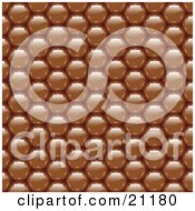 Background Of Shiny Brown Chocolate Dots by elaineitalia