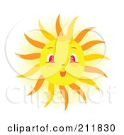 Royalty Free RF Clipart Illustration Of A Surprised Sun Face by Cherie Reve