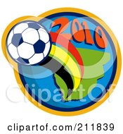 Royalty Free RF Clipart Illustration Of A 2010 Soccer World Cup Ball And A Globe