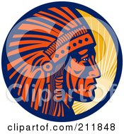 Royalty-Free (RF) Clipart Illustration of a Chief Logo by patrimonio
