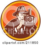 Royalty Free RF Clipart Illustration Of A Photography Logo by patrimonio
