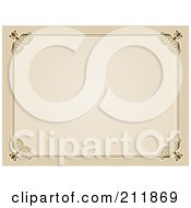 Royalty Free RF Clipart Illustration Of A Beige Vintage Certificate Border Design