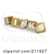 Royalty Free RF Clipart Illustration Of 3d Tan Blocks Spelling LINKS by Jiri Moucka