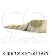 Royalty Free RF Clipart Illustration Of A 3d Row Of Falling Blocks by Jiri Moucka
