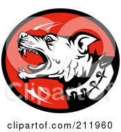 Royalty Free RF Clipart Illustration Of A Mean Barking Dog Logo