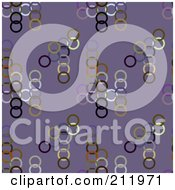 Royalty Free RF Clipart Illustration Of A Seamless Repeat Background Of Colorful Circles On Purple by chrisroll