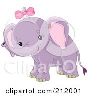 Cute Baby Girl Elephant Smiling