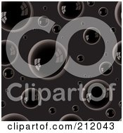 Royalty Free RF Clipart Illustration Of A Background Of Reflective Oil Bubbles Over Black