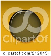 Royalty Free RF Clipart Illustration Of An Oil Droplet On Orange by michaeltravers
