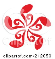 Royalty Free RF Clipart Illustration Of A Red Music Note Circle by Cherie Reve