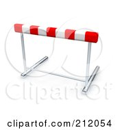 Royalty Free RF Clipart Illustration Of A 3d Red And White Track Hurdle