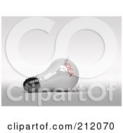 Royalty Free RF Clipart Illustration Of A 3d Shiny White Light Bulb With The Red Word Idea On It by stockillustrations