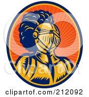 Royalty-Free (RF) Clipart Illustration of a Knight Logo by patrimonio