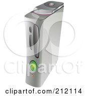 Royalty Free RF Clipart Illustration Of A Gray Video Game Console