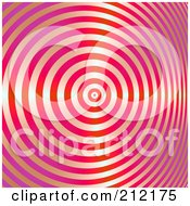 Royalty Free RF Clipart Illustration Of A Background Of A Swirling Shiny Red And Pink Bullseye