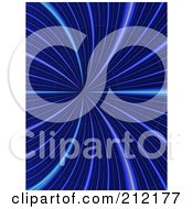 Royalty Free RF Clipart Illustration Of A Background Of Blue Lights In A Wormhole